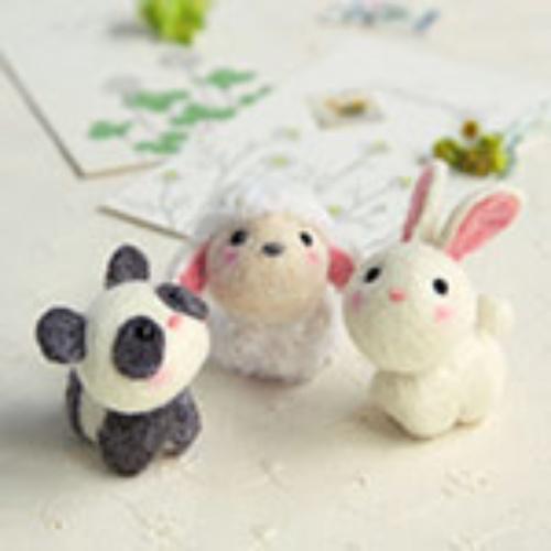 H441-481 Animal Collection Panda, schaap en konijn